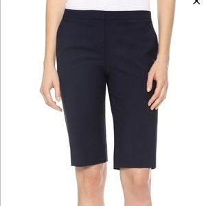 Theory Savile Row Jitney Shorts Navy Blue Size 6